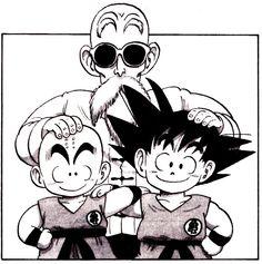Roshi,Goku y Krilin