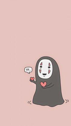 Image about pink in ♥Studio Ghibli♥ by Kika on We Heart It Cartoon Wallpaper, Kawaii Wallpaper, Colorful Wallpaper, Black Wallpaper, Totoro, Diy Kawaii, Kawaii Art, Kawaii Drawings, Cute Drawings