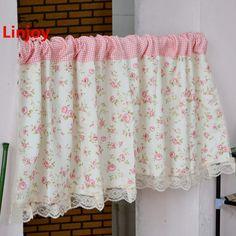 Pastoral style semi-shade short curtain Kitchen curtain Coffee curtain 50*150cm