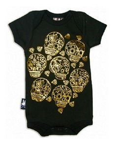 Sugar Skull Tattoo Unisex Infant Onesie Bodysuit Brought to you by Father Panik Industries