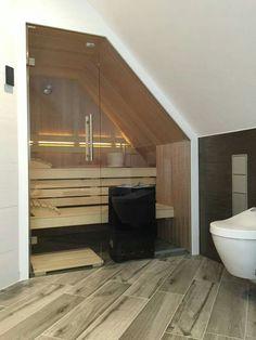 sauna im bad unterhalb einer dachschr ge dachschr gen. Black Bedroom Furniture Sets. Home Design Ideas