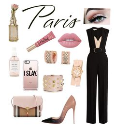"""""""Dusty Rose in Paris"""" by jedim on Polyvore featuring STELLA McCARTNEY, Valentino, Christian Louboutin, Michael Kors, Herbivore, Casetify, Cultural Intrigue, Burberry, Michele and Lime Crime"""