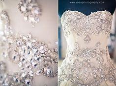 Crystal detailed wedding gown capture by VOEU PHOTOGRAPHY at www.bridestory.com  #weddingideas #weddinginspiration #dreamwedding #fairytalewedding #wedding #bridal #bride #bridalideas