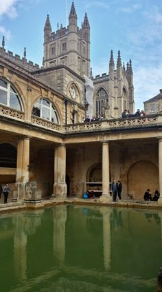 Roman Spa, Bath, Somerset. Bath was founded upon natural hot springs with the steaming water playing a key role throughout its history. Lying in the heart of the city the Roman Baths were constructed around 70 AD as a grand bathing and socialising complex. It is now one of the best preserved Roman remains in the world.