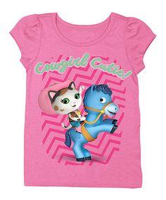 Look at this #zulilyfind! Pink Sheriff Callie Tee - Toddler #zulilyfinds