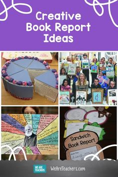 Book reports don't have to be boring. Help your students make the books come alive with these 30 creative book report ideas. Book Report Projects, Book Projects, Teacher Books, Teacher Librarian, Teacher Tips, Teacher Stuff, Fourth Grade Writing, Middle School Books, Book Report Templates