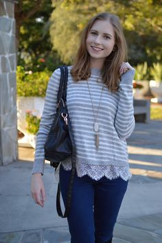 Sweater + Kendra Scott Necklace Lovin'    www.affordablebyamanda.com    #blogged #bloger #photo #outfit