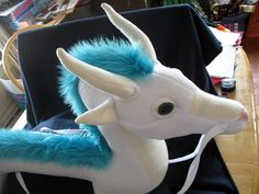 Haku Custom Plush from Spirited Away by nightwinggalleries on Etsy