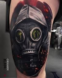 Gas Mask Tattoo Meaning 36 War Top Tattoos Sleeve