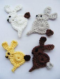 Crochet Applique Bunny - Photo Tutorial  ❥ 4U // hf
