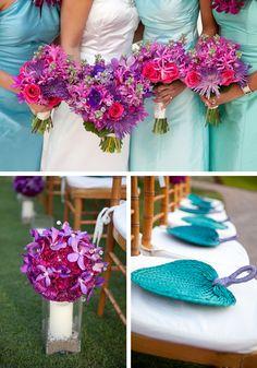 Purple & Pink Hawaiian Wedding