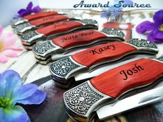 Father of the Bride Wedding Gift Custom Engraved by KnifePro, $18.99