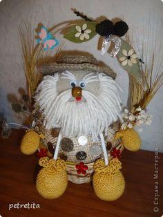 Куклы Мастер-класс Домовенок на новоселье Материал природный Мешковина Нитки Семена фото 1
