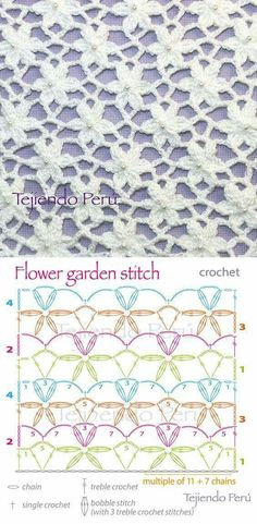 Crochet Garden Flower Stitch Doily Flower stitch crochet may have bunches of uses, but the most important thing is that they beautify all the crochet. Crochet Unique, Love Crochet, Single Crochet, Crochet Flowers, Learn To Crochet, Beautiful Crochet, Peacock Crochet, Crochet Leaves, Half Double Crochet
