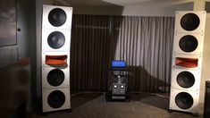 PureAudioProject Quintet15 Horn1 Modular Open Baffle Speakers at RMAF 2017