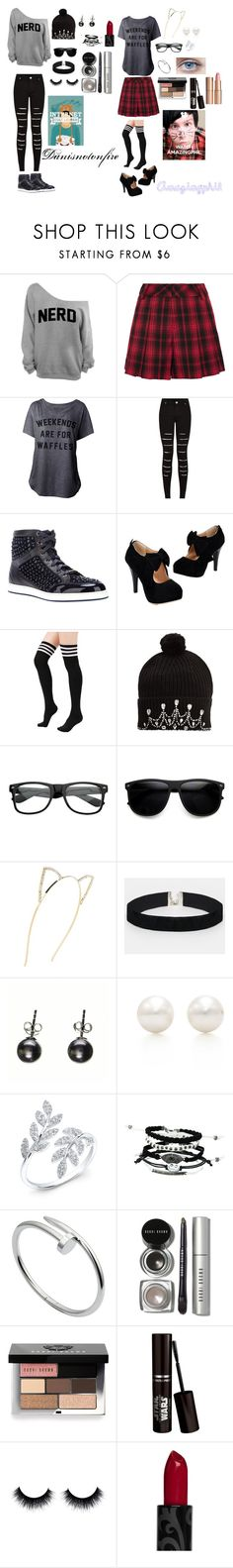 """""""Dan and Phil"""" by justdoitanddance ❤ liked on Polyvore featuring Alice + Olivia, Jimmy Choo, Markus Lupfer, Cara, ASOS, Tiffany & Co., Cartier, Bobbi Brown Cosmetics, Charlotte Tilbury and Sykes"""