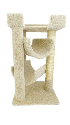 """Features:  -Cat scratch and lounge.  -Extra large cat perch on top.  -3 Scratching posts.  -Made in the United States.  -The color of the product may vary from the image. Dimensions:  -Dimensions: 20"""""""
