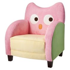 $99.99  Kid's Owl Chair - Pink  My son is only 10 months old… I could totally still get away with teaching him pink is a masculine color?  So dang cute.  I don't understand why Circo does really cute things for girls, and the boys lines are just awful!