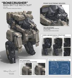 BONECRUSHER Main Battle Mech Suit by *ProgV on deviantART