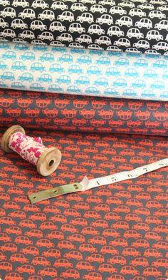 Echino Small Bubble Car Cotton Print