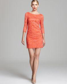 Trina Turk Three Quarter Sleeve Lace Dress - Geddes | Bloomingdale's