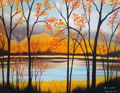 We host painting events at local bars. Come join us for a Paint Nite Party! Autumn Painting, Autumn Art, Wine And Canvas, Painting Workshop, Paint And Sip, Art Abstrait, Pictures To Paint, Acrylic Art, Painting Inspiration