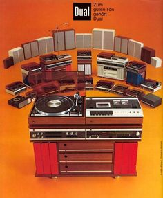 Dual Turntables, 1973 (vintage vinyl record advertising)                                                                                                                                                      Plus