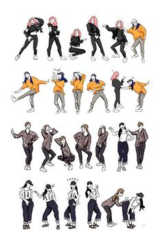 'Yes I Am (dance highlight)' Poster by casandrang Pose Reference Photo, Drawing Reference Poses, Drawing Poses, Anatomy Reference, Drawing Tips, Dance Poses, Art Poses, Mamamoo, Baile Hip Hop