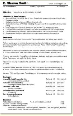 Sample Resume For A Former Entrepreneur Distinctive Documents Pinterest Skill Based Administrative Assistant