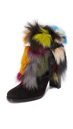 Stuart Weitzman Go Fur It Booties