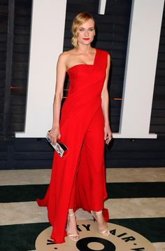 Diane Kruger in Donna Karan, Vanity Fair Oscars Party 2015