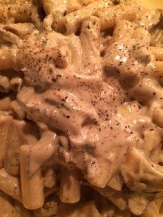 Pasta Con Tanti Funghi alla Crema  / Pasta with Many Mushrooms Cream Sauce
