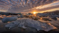 Chilled Crocodile - Arild Heitmann, aka the Arctic Ron Jeremy lookalike, and I were very lucky to witness an amazing sunset at the Jökulsárlón glacier lagoon in Iceland in June 2015. While the area is beautiful and the light was good, it's hard to find balance amidst the chaos - there are thousands of small (and big) chunks of ice floating around. I found this particular one very intriguing, as it looks like a crocodile ..head to the right, and some weird wart on his tail! Before you ask…