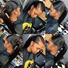 Bohemian hair is more popular than ever. Get three simple and easy tips for beautiful Bohemian hairstyles - braids, waves and curls. Cute Ponytails, Ponytail Styles, Curly Hair Styles, Natural Hair Styles, Dope Hairstyles, Ponytail Hairstyles, Weave Hairstyles, Updo, Slick Ponytail