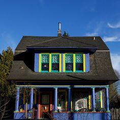 Purple House, Blue Sky