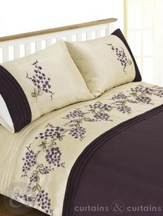 Elysee Luxury Floral Embroidered Duvet Cover - Bedding UK