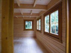 Custom Built Log Cabins for Sale in Scotland || Log Cabins Scotland, Sleigh office interior.