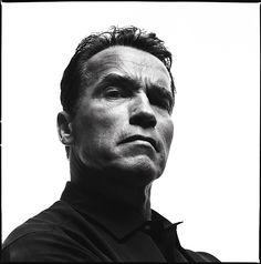 Richard Avedon Iconic lighting. Falloff is so great, sculpting Arnold's face.