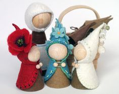 Rootchildren with Mother Earth Waldorf inspired pegdolls with changeable clothes