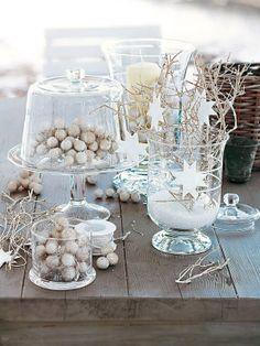 Escenas festivas: decoNavidad Blanca Navidad... White Christmas