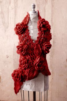 craftscrochet scarv, rose scarf, crochet scarf patterns, crochetknit scarv, crochet free patterns, irish lace, flowers, crochet patterns, crochet scarfs
