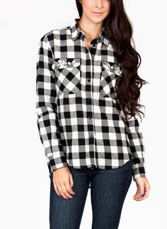 While flannel may traditionally make you think of Kurt Cobain, this long sleeve shirt is anything but grunge.