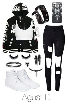 Underground rap concert with Agust D by ari2sk on Polyvore featuring polyvore, fashion, style, Helmut Lang, WithChic, Vans, County Of Milan, Topshop and clothing