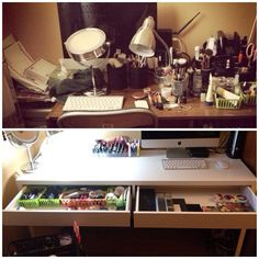 Desk and vanity in one