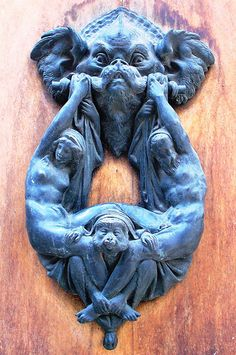 DETAILED FLORENTINE DOOR KNOCKER | This elaborate door knock… | Flickr