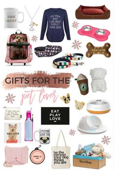 Dog Mom Discover GIFT GUIDE: DOG LOVERS - Lace & Sparkles Are you a dog lover or have any dog lovers in your life? I am and thats why I selected some amazing options in this Holiday Gift Guide! Dog Mom Gifts, Gifts For Pet Lovers, Puppy Gifts, Gifts For Dog Owners, Diy Pet, Guide Dog, New Puppy, Dog Supplies, Dog Toys