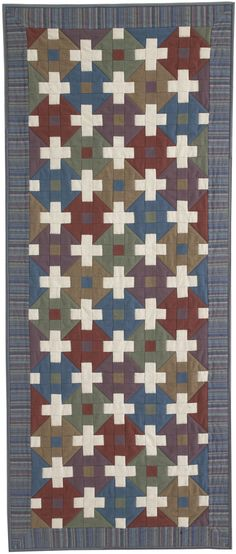 Tiles by Jen Daly, a free quilt pattern from Quilters Newsletter June/July 2016.