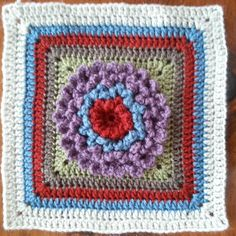 julia_donn Block 10 of #mooglycal2016  the neverending zinnia square pattern by @littlemonkeyscrochet.com #crochetaddict #crochetalong #crochetalongafghan #zinniasquare #crochet