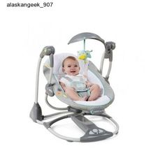 Portable Baby Swing Rocker Infant Seat Vibrator Toddler Chair Glider Cradle Mood