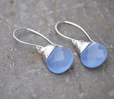 Girly Girl ~ Shades of Blue Gems Jewelry, Beaded Jewelry, Jewelery, Jewelry Accessories, Handmade Jewelry, Lily Cole, Wire Wrapped Earrings, Periwinkle Blue, Purple Fashion